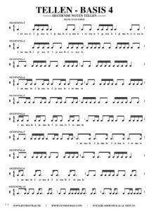 Gratis bladmuziek voor piano keyboard - Tellen basis 4