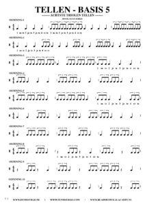Gratis bladmuziek voor piano keyboard - Tellen basis 5