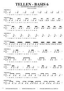 Gratis bladmuziek voor piano keyboard - Tellen basis 6