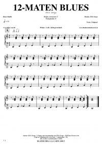 free sheetmusic for piano, keyboard, hammond - 12-bar blues shuffle