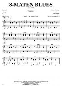 Gratis bladmuziek voor piano keyboard - 8-maten blues shuffle