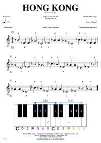free sheetmusic for piano, keyboard, hammond - Hong Kong