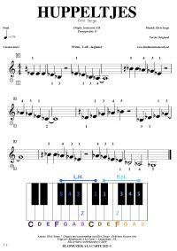 Gratis bladmuziek voor piano keyboard - Huppeltjes
