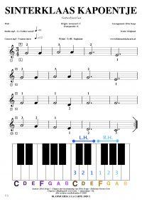 Gratis bladmuziek voor piano keyboard - Sinterklaas Kapoentje