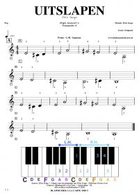free sheetmusic for piano, keyboard, hammond - uitslapen